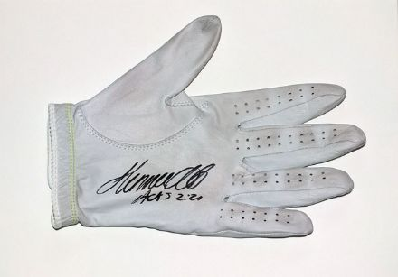 Hennie Otto, match-worn and signed golf glove.